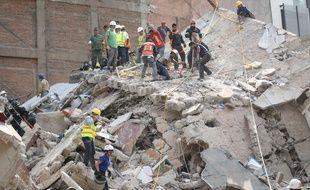 La ville de Mexico après un tremblement de terre meurtrier de magnitude 7,1 le 19 septembre 2017.