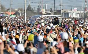 Le pape à son arrivée le 17 février à Ciudad Juarez où il a célébré la messe devant des plusieurs dizaines de milliers de personnes