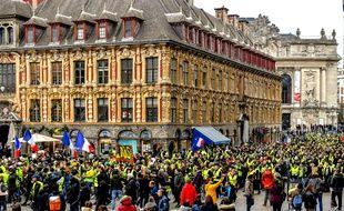 L'acte 8 des « gilets jaunes » a rassemblé 50.000 personnes samedi en France, comme ici à Lille.