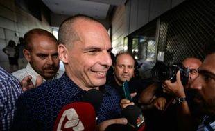 Yanis Varoufakis à son arrivée au ministère des Finances le 6 juin 2015 à Athènes