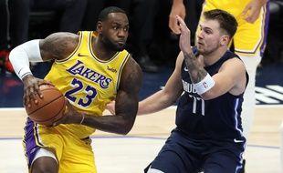Lebron James et Luka Doncic ont illuminé la nuit de NBA lors du match Mavericks-Lakers.