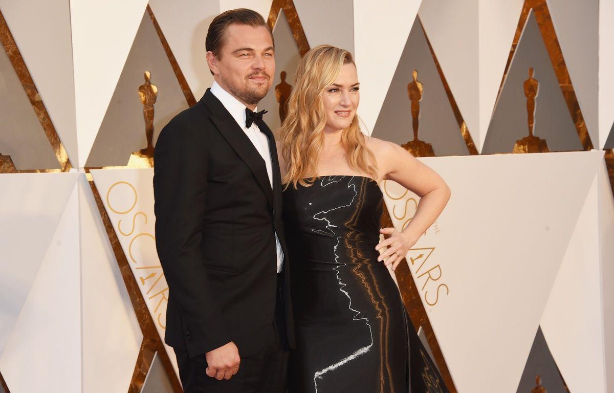 Leonardo DiCaprio et Kate Winslet aux Oscars, le 28 février 2016. – J.MERRITT/AFP
