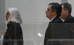 Paris, le 24 février 2020. Penelope et François Fillon arrivent au tribunal judiciaire de Paris pour y être jugés pour «détournement de fonds publics»