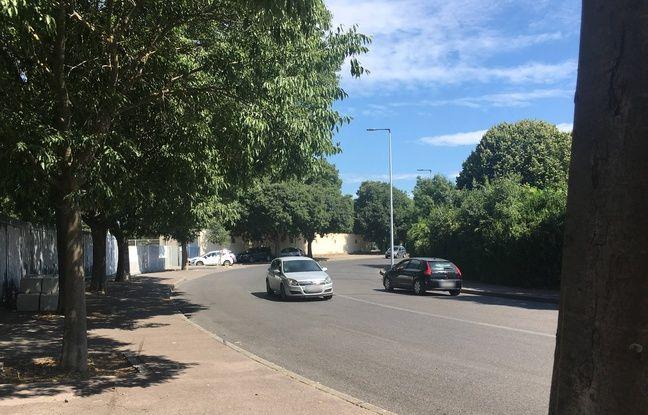 Le virage où s'est déroulé l'accident, à la Mosson, à Montpellier