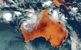 Le cyclone George touche l'Australie le 8 mars 2007.