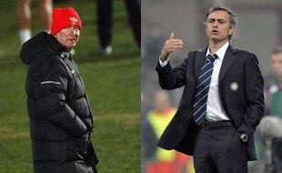 Alex Ferguson et Jose Mourinho, opposé en Ligue des Champions.