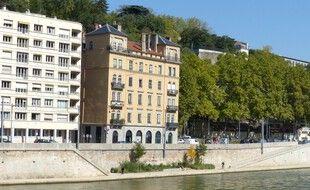 Illustration des berges de Saône réaménagées à Lyon.