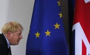 Boris Johnson, premier ministre britannique, en conférence de presse à Bruxelles le 17 octobre 2019