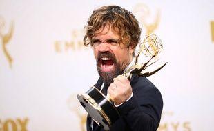 Peter Dinklage a remporté l'Emmy du meilleur second rôle masculin pour «Game of Thrones», le 20 septembre 2015.