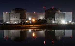 La centrale nucléaire de Fessenheim au soir de l'arrêt de son réacteur n°1, le 21 février 2020.