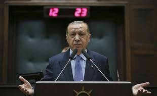 Recep Tayyip Erdogan à Ankara, le 8 mai 2018.