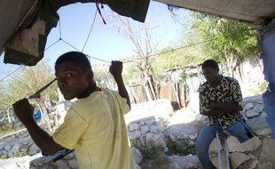 Dans un des bidonvilles d'Haïti, le 4 janvier 2015.