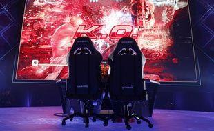 Illustration d'une compétition de e-sport sur le jeu Tekken.