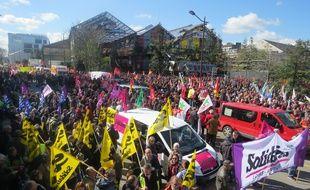 manifestation contre la loi travail à Nantes le 29 avril 2016