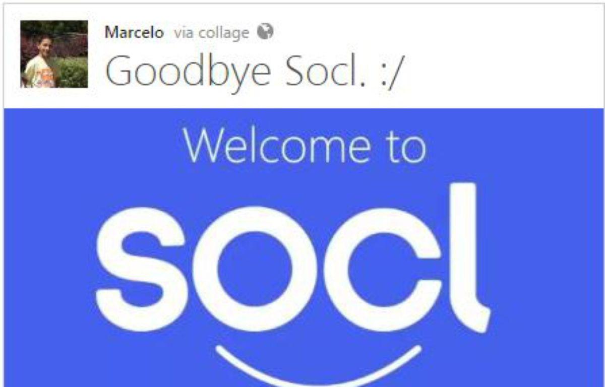 Un utilisateur triste de la fermeture de So.cl – Capture So.cl