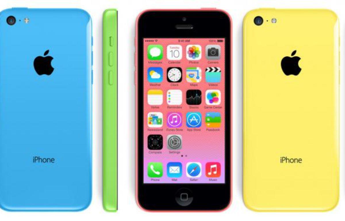 L'iPhone 5C est recouvert d'une couche en polycarbonate. – PHOTOMONTAGE 20 MINUTES
