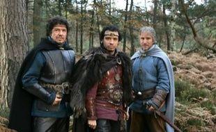 Léodagan, Arthur et Perceval, les personnages principaux de la série, en 2005.