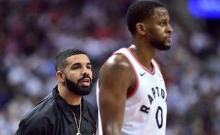 Le rappeur Drake est un grand fan des Toronto Raptors, en NBA.