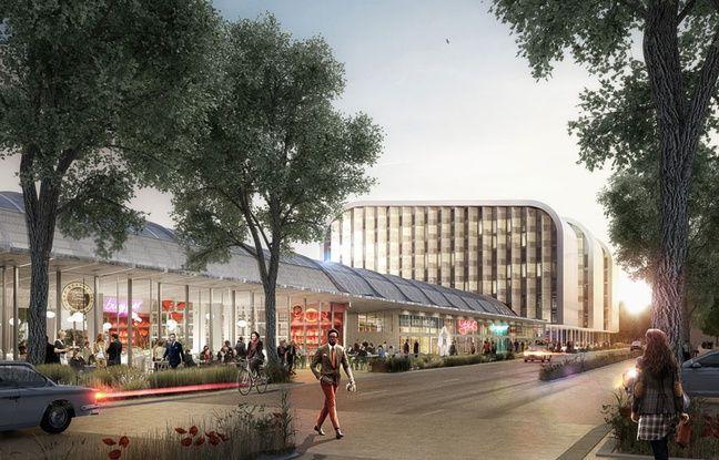 Vue de la future halle Debat-Ponsan à Bordeaux