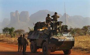 Des soldats français près de Douentza (Mali), le 7 février 2013.