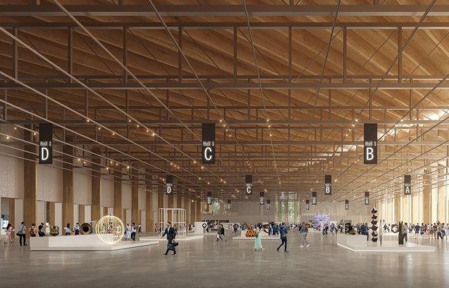 Le grand hall 1 du futur parc des expositions de Strasbourg.