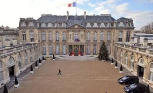 Vue du palais de l'Elysée.