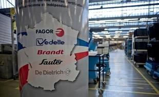 Usine de St-Jean-de-la-Ruelle (Loiret) du groupe FagorBrandt placé en redressement judiciaire en novembre 2013.