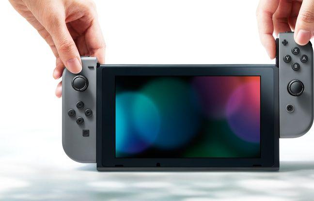 Les deux manettes Joy-Con présentes sur le côté de la console peuvent se détacher.