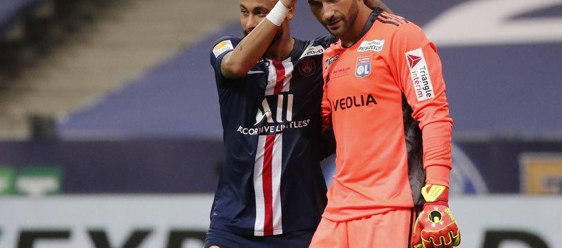 Neymar et Anthony Lopes