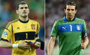 La finale de l'Euro-2012 Italie-Espagne, promet de magnifiques duels: la lutte pour le titre de meilleur gardien du monde entre entre Buffon et Casillas, la confrontation des meneurs Pirlo face au duo Xavi et Iniesta, et la guerre attaque-défense entre Balotelli et Ramos, dimanche à Kiev.