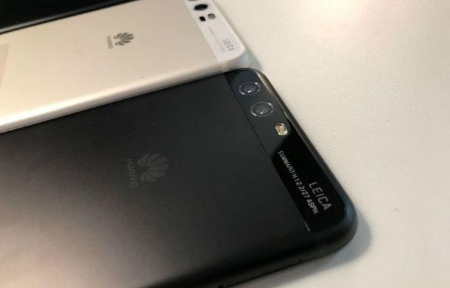 Le Huawei P6, fruit d'une nouvelle collaboration avec Leica, au Mobile World Congress 2017.