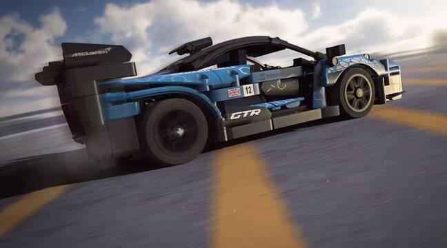 La McLaren Senna GTR Lego dans un jeu vidéo