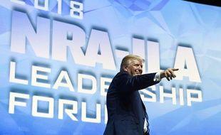 Donald Trump à la convention de la NRA, vendredi 4 mai.