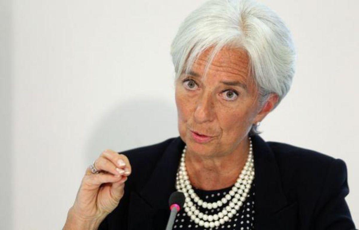 """La directrice générale du Fonds monétaire international, Christine Lagarde, a mis en garde contre le risque de """"contamination"""" en cas de sortie de la Grèce de la zone euro, évoquant un éventuel accroissement de l'aide européenne à ce pays pour éviter ce scénario. – Oli Scarff afp.com"""