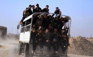 Les forces irakiennes près de Mossoul le 31 octobre 2016.