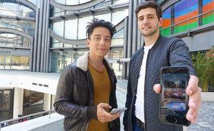 Axel Hutin (à g.) et Thomas Rozier ont lancé leur application TimeNJoy, un Tinder des sorties.
