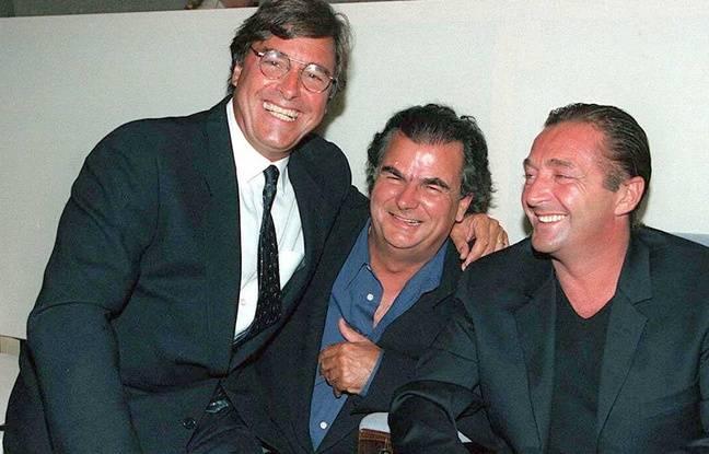 Le fondateur de l'agence Elite John Casablancas (gauche), le photographe Patrick Demarchelier (centre) et le président d'Elite Europe Gérald Marie en 1996.