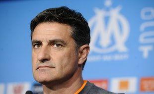 Michel en conférence de presse le 16 mars à Marseille.