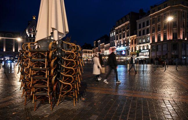 Un café fermé à Lille (illustration)