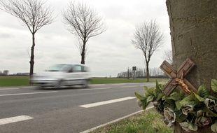 Lille, le 13 mars 2011. Illustration pr?vention routire.