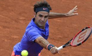 Roger Federer le 24 mai 2015 à Roland-Garros.