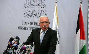 Le ministre palestinien des Affaires étrangères Riyad al-Malki, à Ramallah, le 11 août 2015