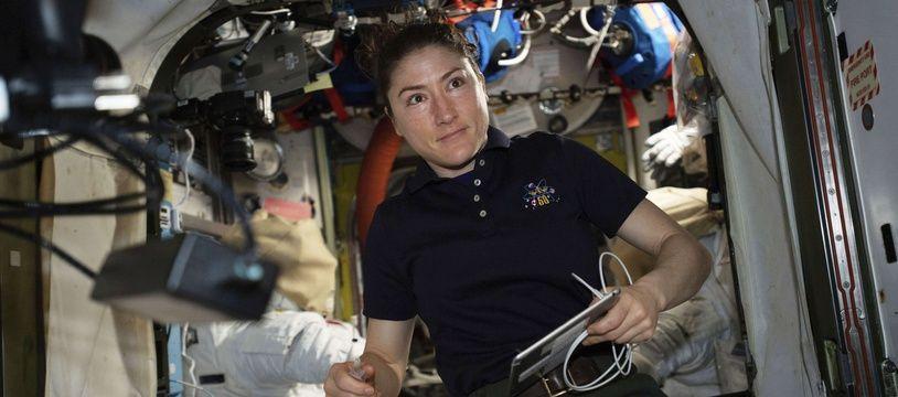 Christina Koch devrait reste à bord de l'ISS jusqu'en février 2020.