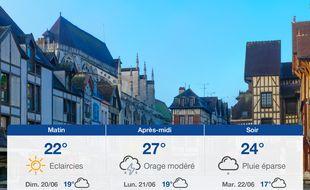 Météo Troyes: Prévisions du samedi 19 juin 2021