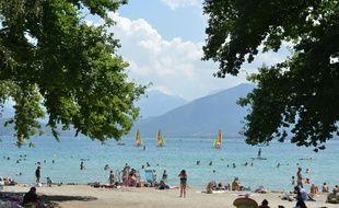 Le lac d'Annecy en Haute Savoie, le 23 juillet 2020.