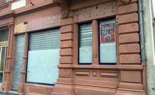 Strasbourg: Le conseil municipal vote une motion contre le local identitaire et ensuite? Le local bar  Arcadia. Bastion social. Strasbourg le 23 janvier 2018.