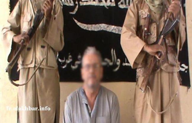 Gilberto Rodrigues, l'otage enlevé au Mali le 20 novembre 2012, sur une vidéo publiée par ses ravisseurs.