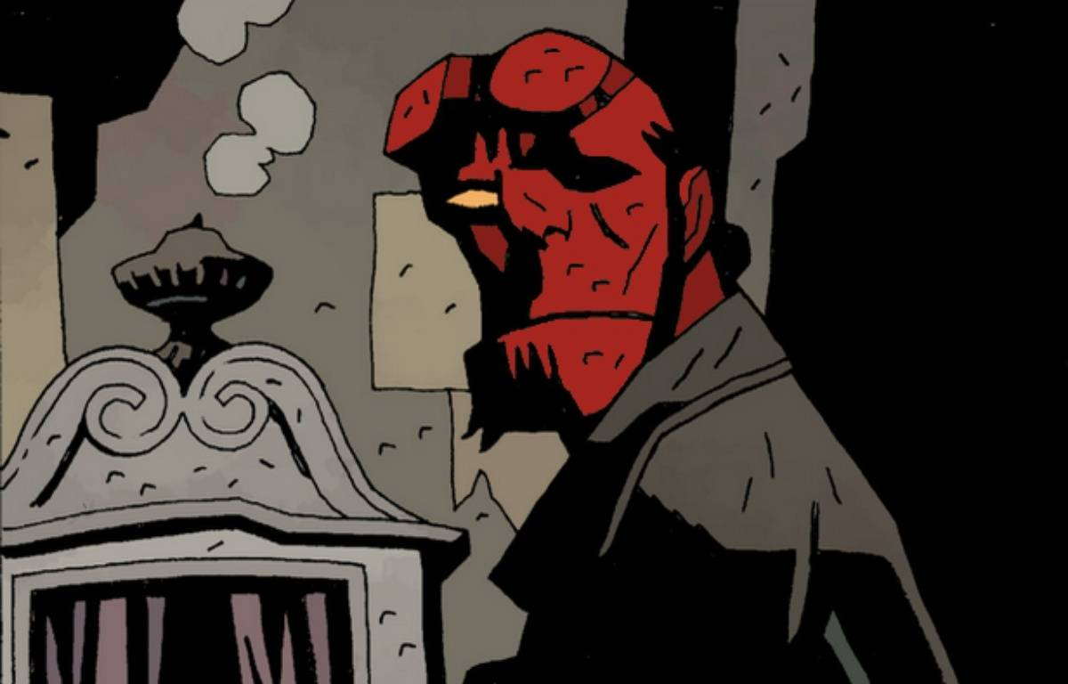 «Hellboy en enfer» (extrait) – Mike MIGNOLA & éditions Delcourt