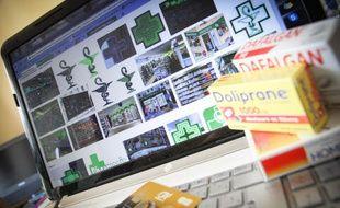 Illustration de la vente de médicaments sur internet