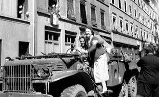 Lyon, en liesse après la libération.